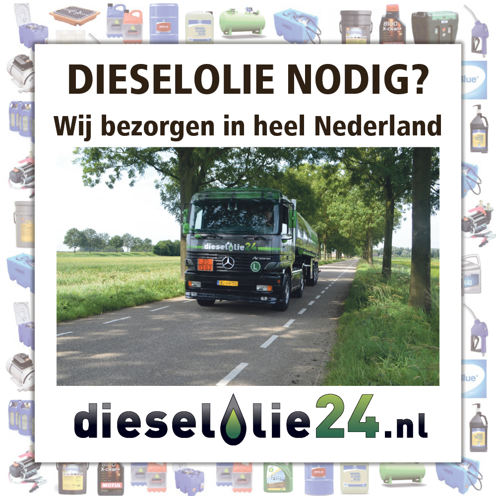 Dieselolie nodig? Wij bezorgen in heel Nederland!