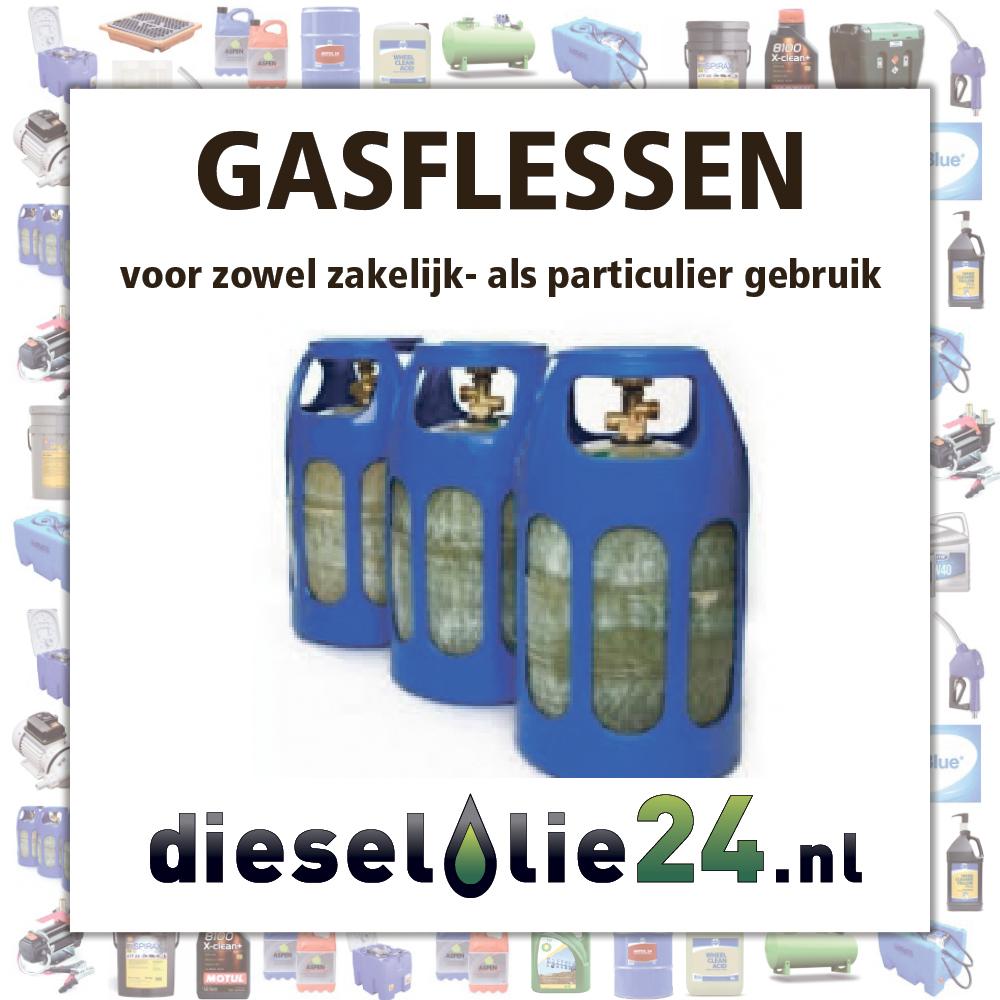 Gasflessen voor zowel zakelijk als particulier gebruik