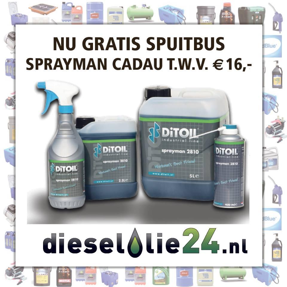 Nu gratis Sprayman spuitbus cadeau