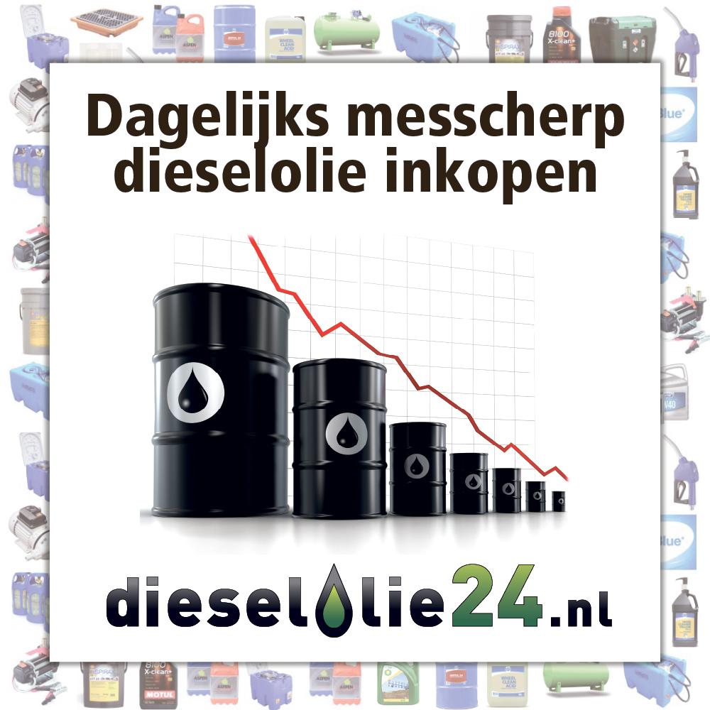 Dagelijks messcherp dieselolie inkopen